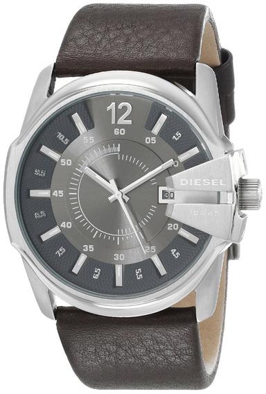 Relógio Diesel Original Masculino Pulseira Couro Dz1206/0cn