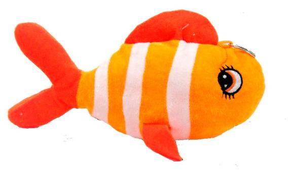 Peixe De Pelúcia 24 Cm Decoração Marinhos Festa Infantil