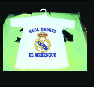 Hermosa Camiseta De Bebe De Real Madrid