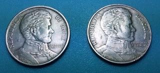 Monedas 1 Peso Chile 1975 - 1976 / Diferente Anverso