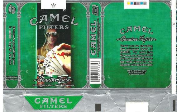 * Marquilla Papel Camel Genuine Nights Poker