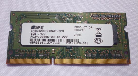 Memória Notebook Macbook 1gb Ddr3 Pc3-10600s-0 Smart 1333hhz