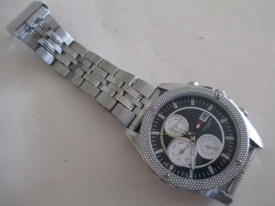 Relógio Tommy Hilfiger- Todo Em Aço Movim.quartz 2 Pulseiras
