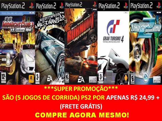 Gran Turismo 4 Para Playstation 2 (kit 5 Jogos Ps2 Corrida
