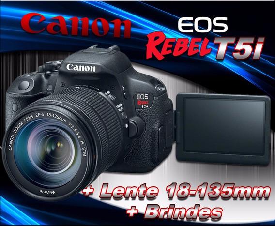 Câmera Canon T5i Com Lente Ef-s 18-135mm F/3.5-5.6 Is Stm