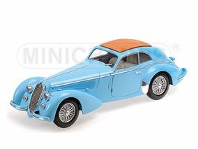 Carro Alfa Romeo 8c 2900b Lungo 1938 Azul 1:18 Minichamps