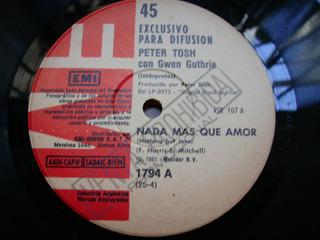Peter Tosh / Nada Mas Que Amor - Simple De Vinilo Promo