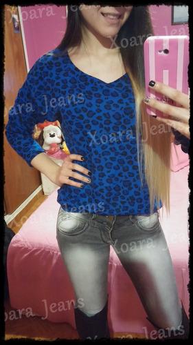 Camiseta Estampada Print Lanilla M/ Larga - Xoara Jeans