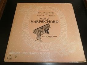 Lp Johann Kuhnau & Vincent Luebeck - Music For Harpsichord