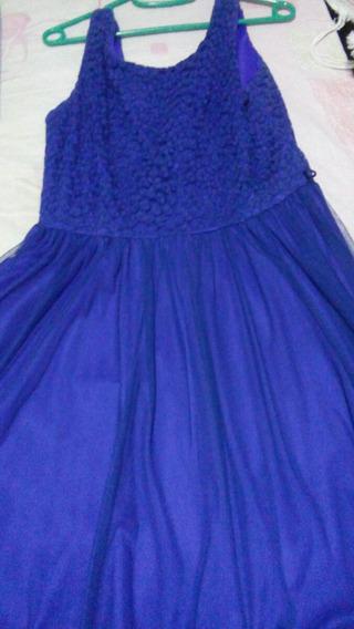 Vestido De Coctel Corto Azul Eléctrico