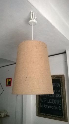 Lampara Colgante De Arpillera