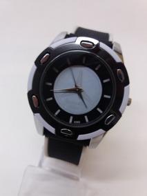 Relógio Mercedes Benz Com 4,5 Cm E Pulseira Em Silicone
