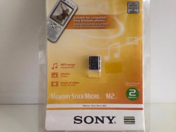 Cartão Memory Stick Micro M2 Sony Original 2gb Com Holograma