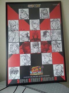 Afiche Poster Vintage Super Street Fighter 2 Turbo Gigante