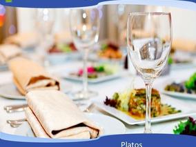 Alquiler De Vajilla Copas Vasos Platos Cubiertos Para Fiesta