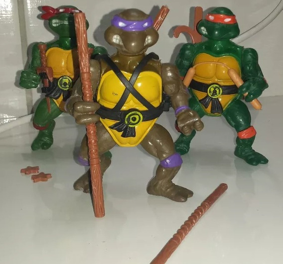 3 Bonecos Tartarugas Ninjas Anos 80