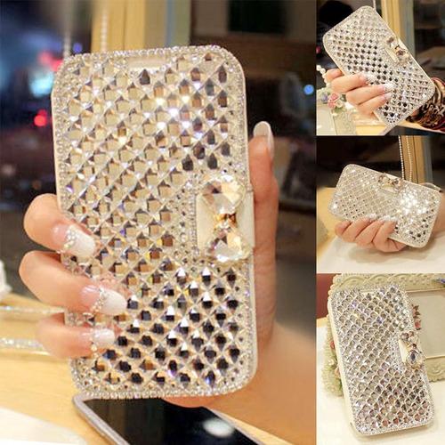Funda Samsung J7/s7 Flat Edge Moño Cristales Simil