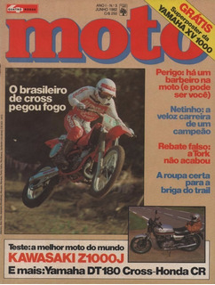 Quatro Rodas Moto N°3 Kawasaki Z1000j Yamaha Dt 180 Cross