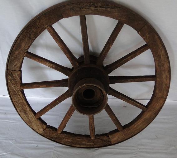 Roda De Carroça Original- Pequena - Original Cor Verde