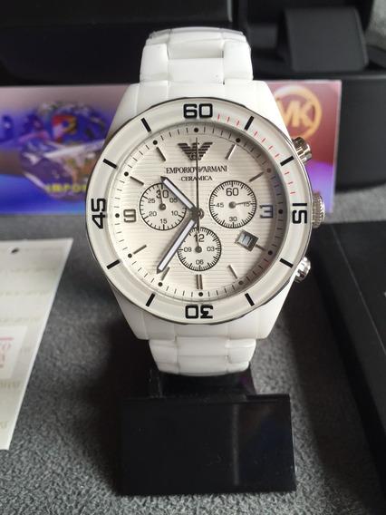 Relógio Emporio Armani Ar1424 Cerâmica Original Completo