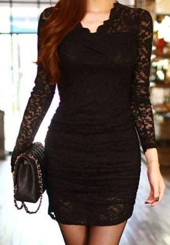 Vestido De Encaje Negro Talla S Nuevo Importado En Stock