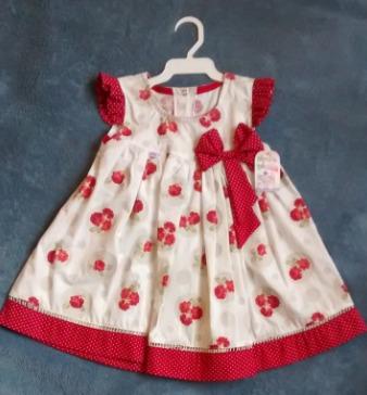 Vestido Para Bebês Estampado Vermelho