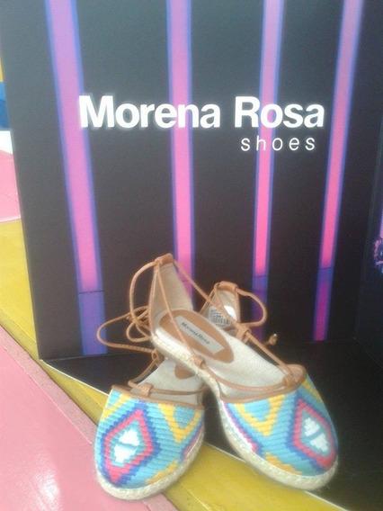Alpargata Bordada Morena Rosa