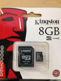 Cartão De Memória Micro Sd+adaptador Kingston 8g-lacrado