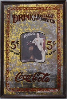 Coca-cola - Antigo Quadro Promocional -antiquario Brasil.