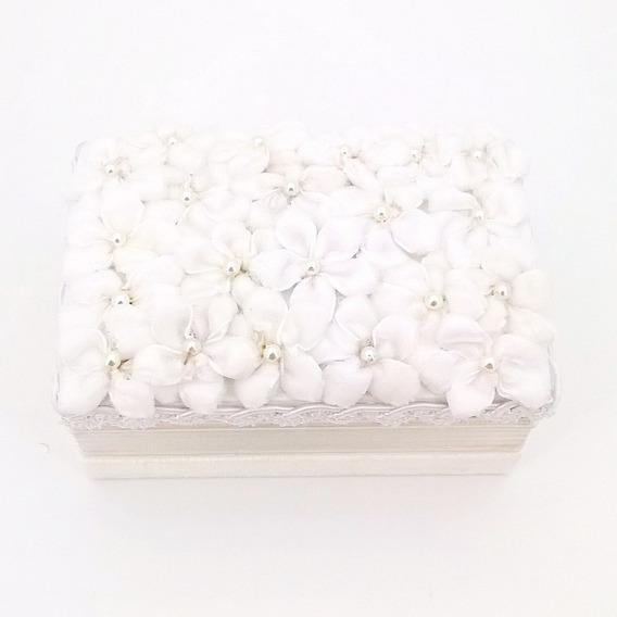 Porta Alianças Baú Floral