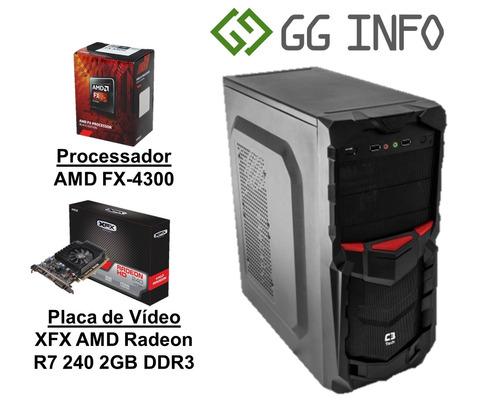 Pc Gamer Amd Fx-4300 Radeon R7 240 2gb Ddr3 4gb Hd 500gb