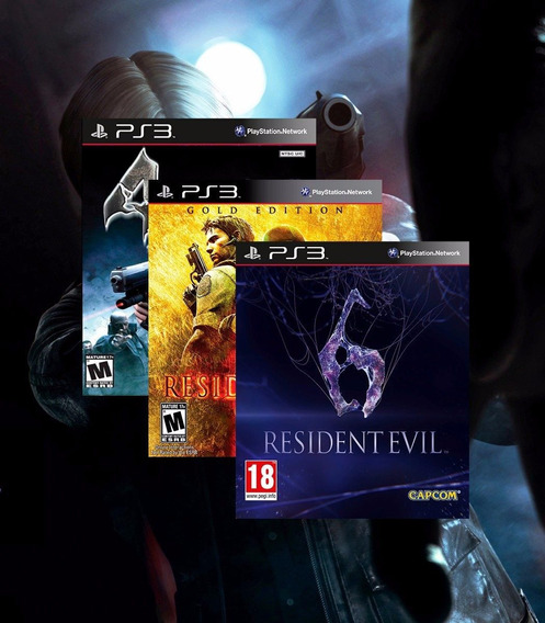 Resident Evil 4, 5, 6 Kit Ps3 Psn - Midia Digital