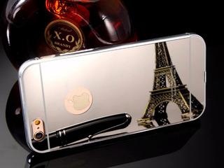Capa Case Para iPhone 5 5s 6 6s Espelhada E Alumínio
