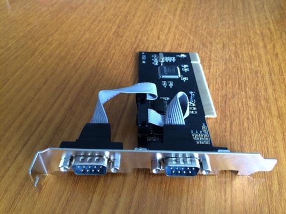 Placa Serial Dupla Rs 232 Db9 Pci Para Automação Comercial