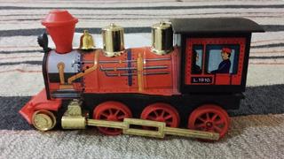 Antigua Locomotora Tren Juguete A Pila *loco 2 8 2 Mikado *