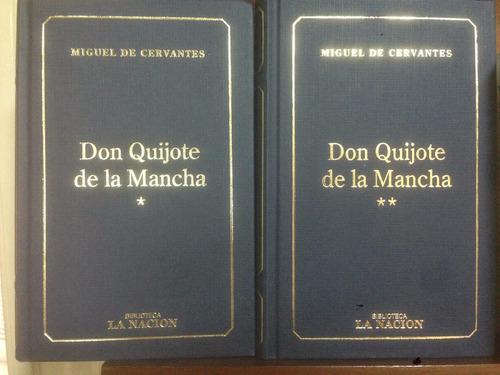 Don Quijote De La Mancha - Cervantes - Tapa Dura - 2 Tomos