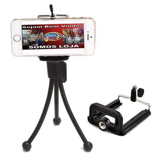 Imagem 1 de 6 de Tripe Flexível Mini (câmera-celular-self-iPhone E Outros)