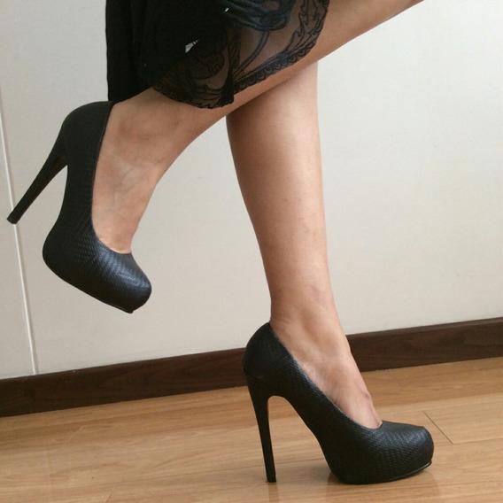 Zapatos Negros Talla 39 Plataformas Comprados En Londres.