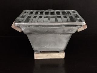Anafre Asador Carbon, Fundido, Centro De Mesa, Mini Grill