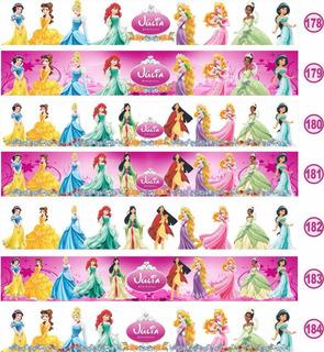 02 Faixa Border Adesivo Quarto Princesa Disney Papel Parede