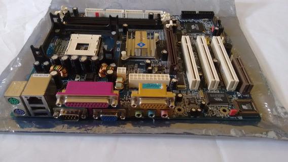 Placa Mãe P4ma Pro 533 + Memoria De 512mb