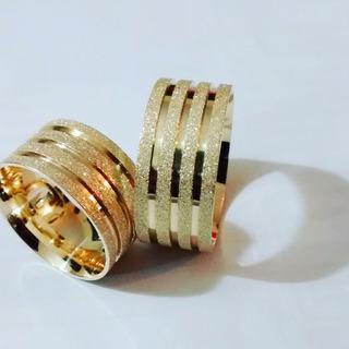 Par De Aliancas Em Ouro 18k 9mm Diamantada Anatomicas Shai