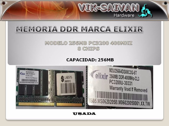 Memoria Ddr Elixir 256mb Pc-3200 400mhz 8 Chips 39