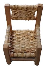 Cadeirinha De Boneca Mini Cadeira De Palha Ref.2660