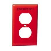 Placa Para Receptaculo Duplex Color Roja Leviton 80703re