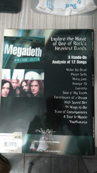 Megadeth Prime Cuts Songbook Lesson Guitar