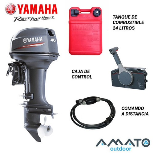 Motor Fuera De Borda Yamaha 40 Hp 2t 40xwl Pata Larga