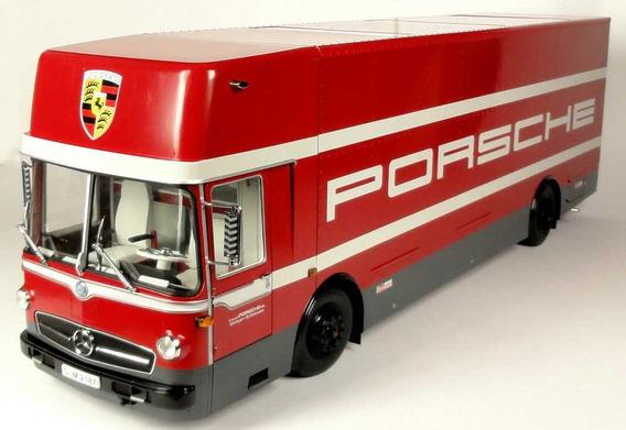 Miniatura Caminhão Porsche Renntransporter Schuco 1/18
