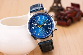 Relógio Masculino Pulseira De Couro Original Pulso Casual
