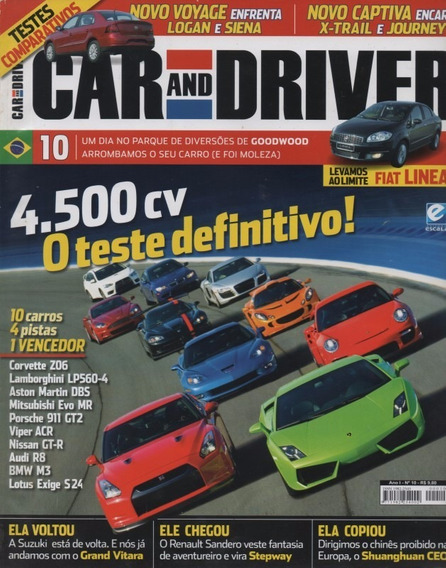 Car And Driver N°10 Fiat Linea Audi R8 Corvette Z06 Viper M3